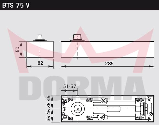 Dorma Bts75v Single Action Floor Spring Euro Access